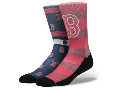 Boston Red Sox Stance MLB Splatter Crew Sock