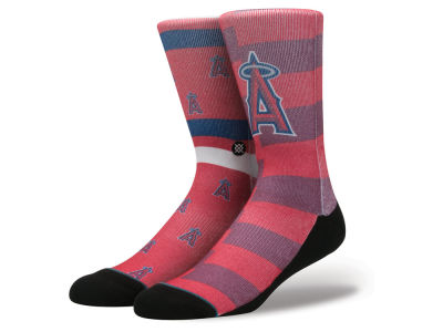 Los Angeles Angels Stance MLB Splatter Crew Sock