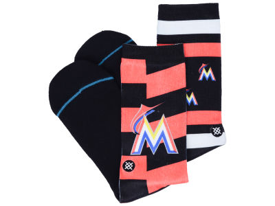 Miami Marlins Stance MLB Splatter Crew Sock