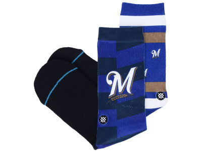 Milwaukee Brewers Stance MLB Splatter Crew Sock