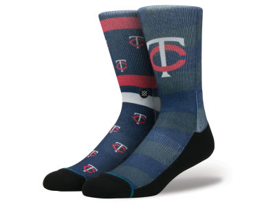 Minnesota Twins Stance MLB Splatter Crew Sock