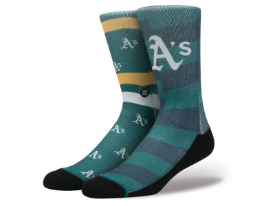 Oakland Athletics Stance MLB Splatter Crew Sock