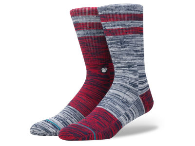 Washington Nationals Stance MLB Greystone Crew Socks