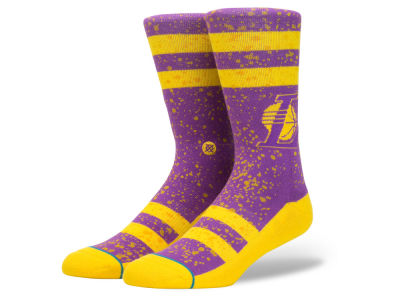Los Angeles Lakers Stance NBA Overspray Crew Socks