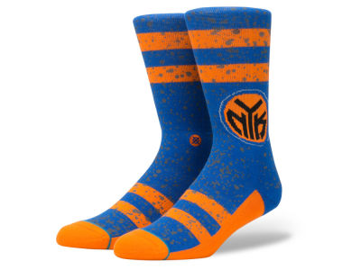 New York Knicks Stance NBA Overspray Crew Socks