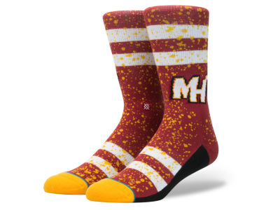 Miami Heat Stance NBA Overspray Crew Socks