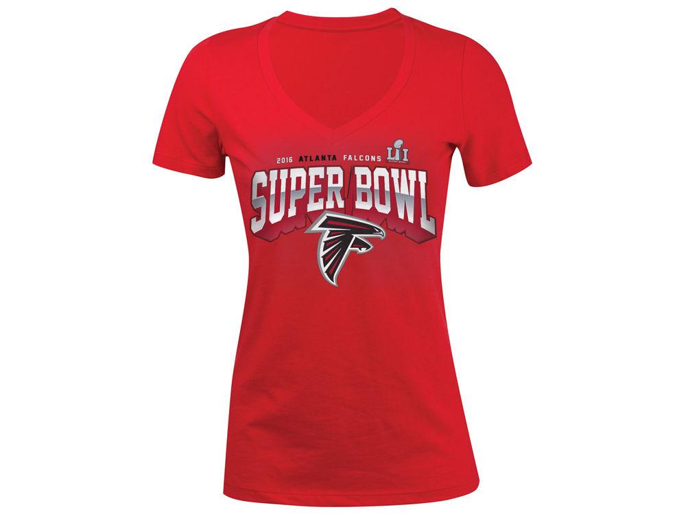 Atlanta Falcons 5th   Ocean NFL Women s Super Bowl LI Bound V T-Shirt  c5f2b1394