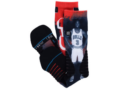 Chicago Bulls Dwyane Wade Stance NBA Future Legends Crew Socks