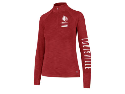 Louisville Cardinals '47 NCAA Women's Forward Microlite Shade Quarter Zip Pullover