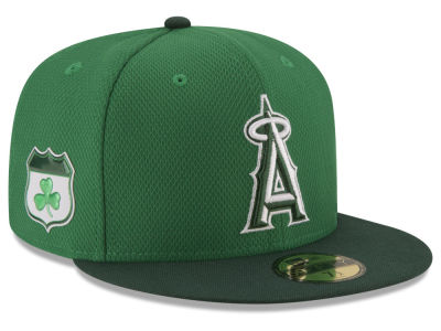 Los Angeles Angels New Era 2017 MLB On-Field St. Patrick's Day 59FIFTY Cap