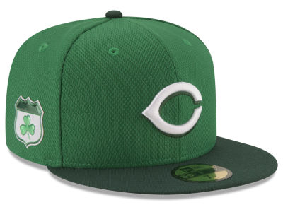 Cincinnati Reds New Era 2017 MLB On-Field St. Patrick's Day 59FIFTY Cap