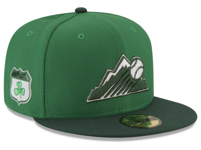 Colorado Rockies New Era 2017 MLB On-Field St. Patrick's Day 59FIFTY Cap