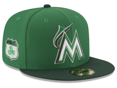 Miami Marlins New Era 2017 MLB On-Field St. Patrick's Day 59FIFTY Cap