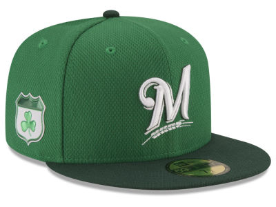 Milwaukee Brewers New Era 2017 MLB St. Pattys Diamond Era 59FIFTY Cap