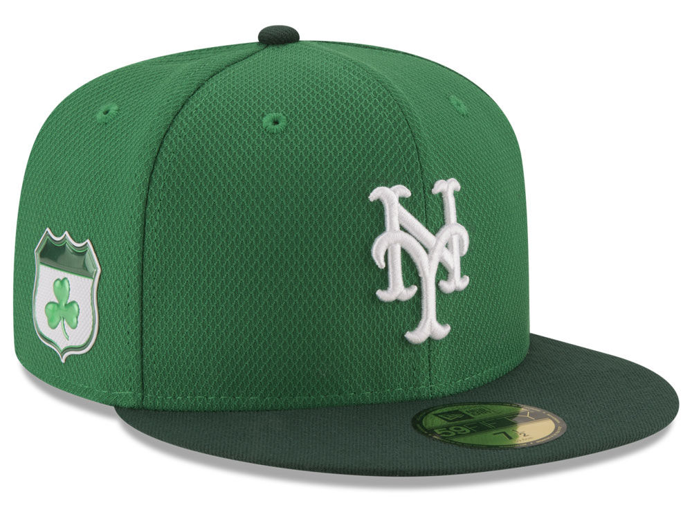0f841c3b0b2 New York Mets New Era 2017 MLB On-Field St. Patrick s Day 59FIFTY Cap