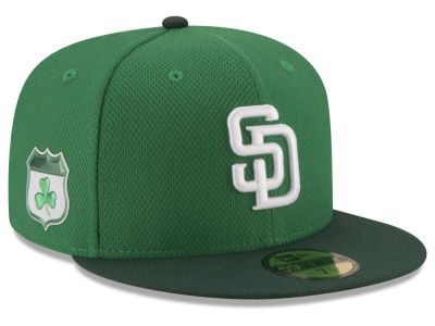 San Diego Padres New Era 2017 MLB On-Field St. Patrick's Day 59FIFTY Cap