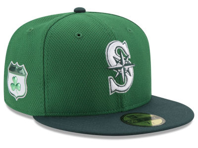 Seattle Mariners New Era 2017 MLB On-Field St. Patrick's Day 59FIFTY Cap