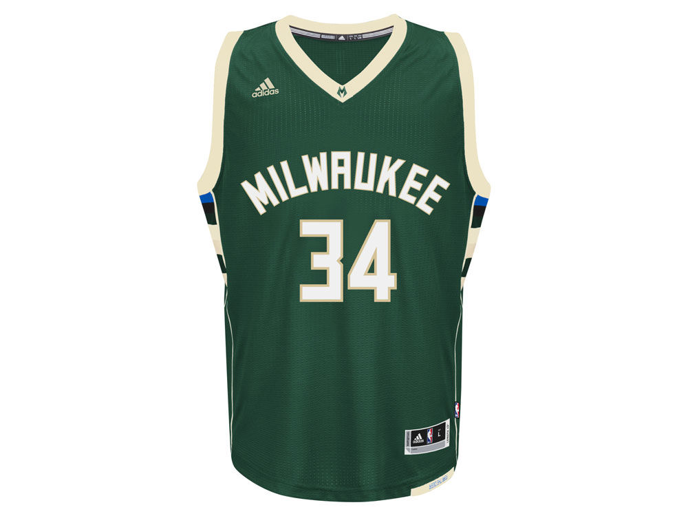 Milwaukee Bucks Giannis Antetokounmpo adidas NBA Swingman Jersey ... 43fd8505e