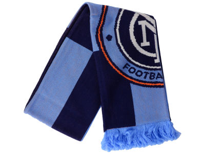 New York City FC adidas MLS Jacquard Checker Scarf