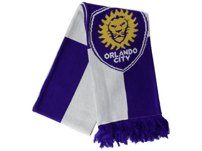 Orlando City SC adidas MLS Jacquard Checker Scarf