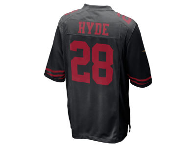 San Francisco 49ers Carlos Hyde Nike NFL Men's Game Jersey