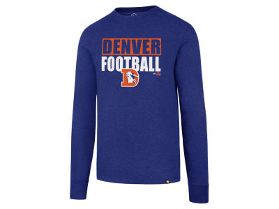 Denver Broncos '47 NFL Men's Stacked Box Long Sleeve T-Shirt