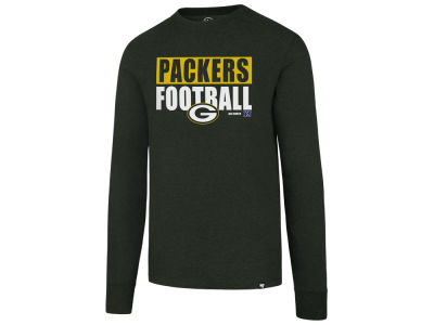 Green Bay Packers '47 NFL Men's Stacked Box Long Sleeve T-Shirt