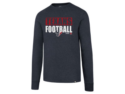 Houston Texans '47 NFL Men's Stacked Box Long Sleeve T-Shirt