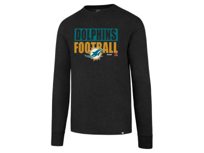 Miami Dolphins '47 NFL Men's Stacked Box Long Sleeve T-Shirt