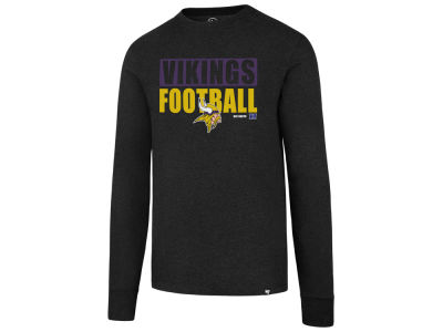 Minnesota Vikings '47 NFL Men's Stacked Box Long Sleeve T-Shirt