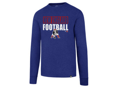 New England Patriots '47 NFL Men's Stacked Box Long Sleeve T-Shirt