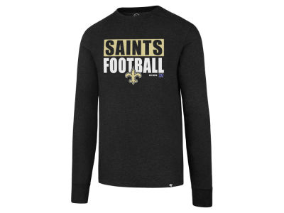 New Orleans Saints '47 NFL Men's Stacked Box Long Sleeve T-Shirt