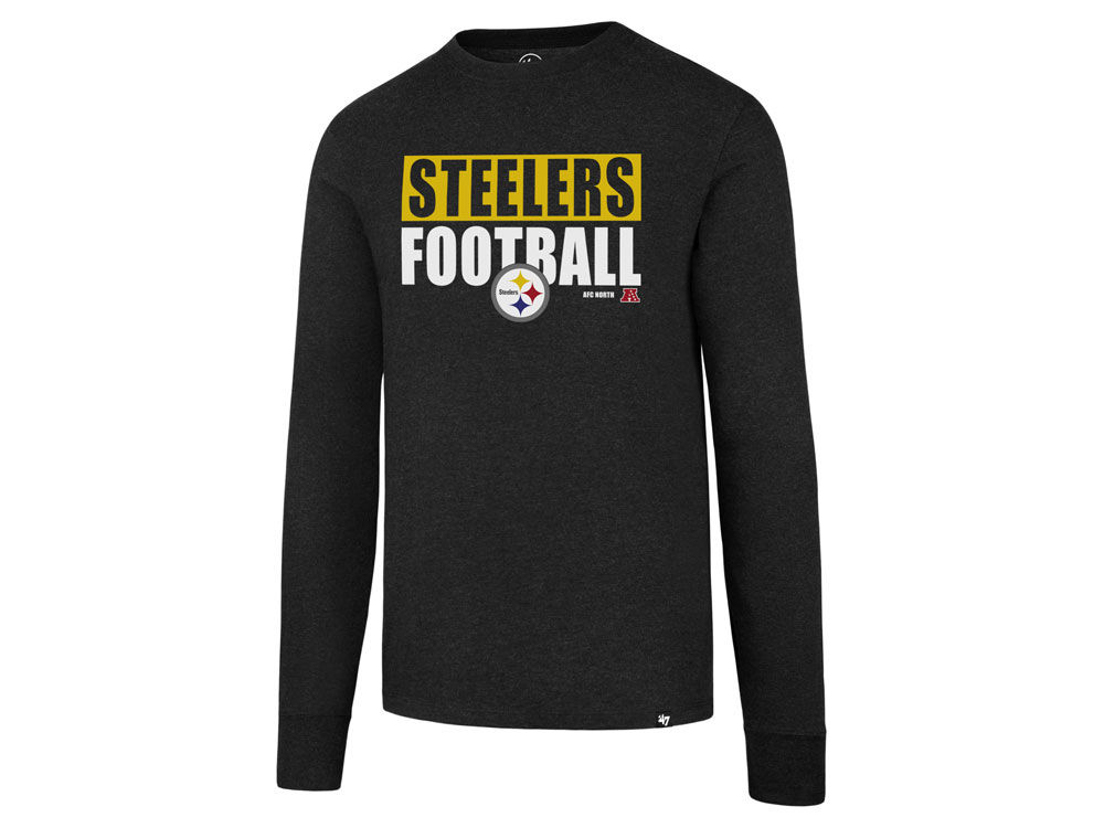 reputable site b70a5 a0617 Pittsburgh Steelers '47 NFL Men's Stacked Box Long Sleeve T-Shirt