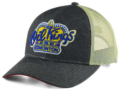 Edmonton Oil Kings NHL CCM Meshback Snap Cap