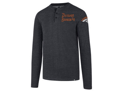 Denver Broncos '47 NFL Men's Top Grain Henley T-shirt