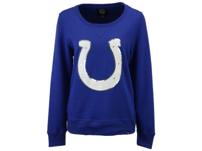 Indianapolis Colts '47 NFL Women's Headline Sequin Sweatshirt