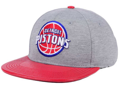 Detroit Pistons Pro Standard NBA Heather Leather Strapback Cap