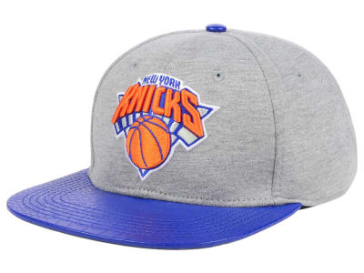 New York Knicks Pro Standard NBA Heather Leather Strapback Cap