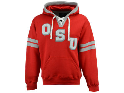 Ohio State Buckeyes J America NCAA Men's Laced Hockey Hoodie