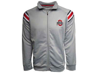 Ohio State Buckeyes J America NCAA Men's Football Stripe Poly Track Jacket