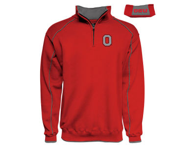 J America NCAA Men's Piped Quarter Zip