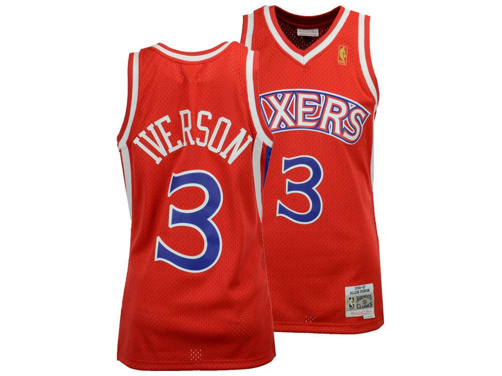 d3c90566a Philadelphia 76ers Allen Iverson Mitchell   Ness NBA Men s Hardwood Classic Swingman  Jersey