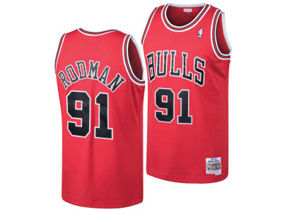 Chicago Bulls Dennis Rodman Mitchell & Ness NBA Men's Hardwood Classic Swingman Jersey