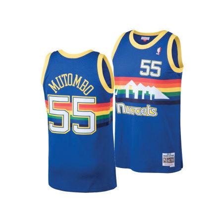 Denver Nuggets Dikembe Mutombo Mitchell & Ness NBA Men's Hardwood Classic Swingman Jersey