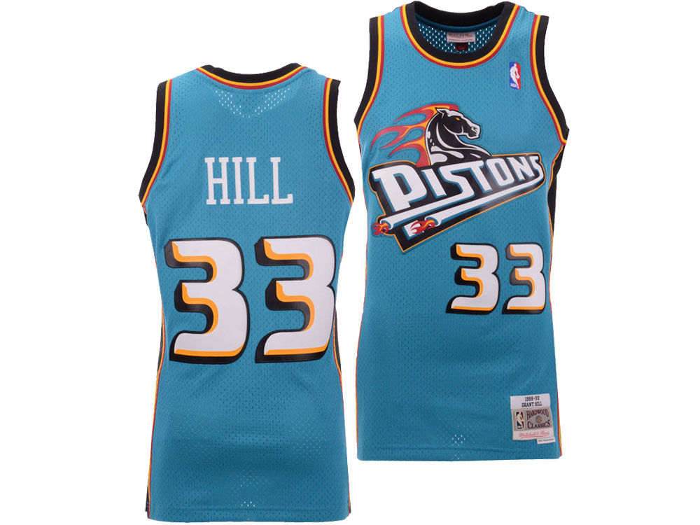 Detroit Pistons Grant Hill Mitchell   Ness NBA Men s Hardwood ... 3baae40ff77a