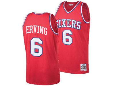 Philadelphia 76ers Julius Erving Mitchell & Ness NBA Men's Hardwood Classic Swingman Jersey