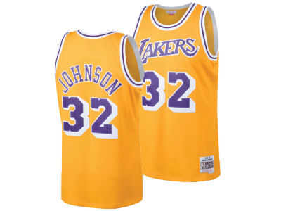 Los Angeles Lakers Magic Johnson Mitchell & Ness NBA Men's Hardwood Classic Swingman Jersey