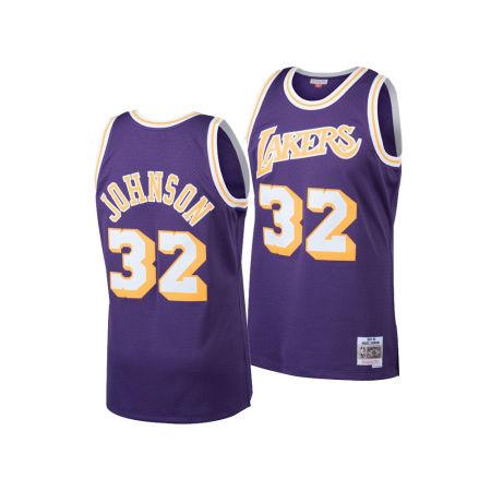Los Angeles Lakers Magic Johnson Mitchell & Ness NBA Men's Hardwood Classic Swingman Jersey