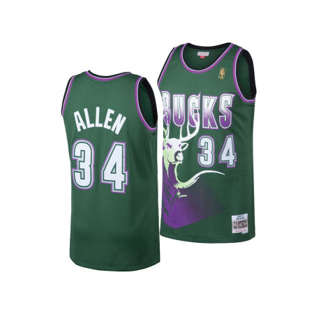 Milwaukee Bucks Ray Allen Mitchell & Ness NBA Men's Hardwood Classic Swingman Jersey