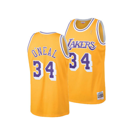 Los Angeles Lakers Shaquille O'Neal Mitchell & Ness NBA Men's Hardwood Classic Swingman Jersey